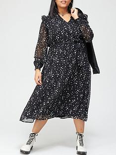 v-by-very-curve-belted-woven-midi-dress-star-print