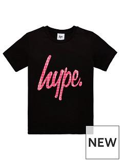 hype-girlsnbsppink-snake-script-short-sleeve-t-shirt-black