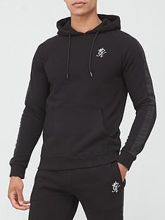 gym-king-tape-text-hoodie-black