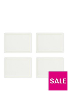 sabichi-pack-of-4-cream-and-gold-placemats-and-4-coasters