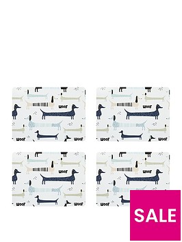 sabichi-pack-of-4-dog-placemats-and-4-stripe-coasters