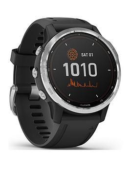 Garmin Fenix 6S Solar, Gps Watch, Ww - Silver With Black Band