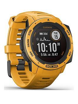Garmin Instinct Solar Gps Watch - Sunburst Yellow