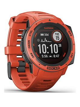 Garmin Instinct Solar Gps Watch - Flame Red