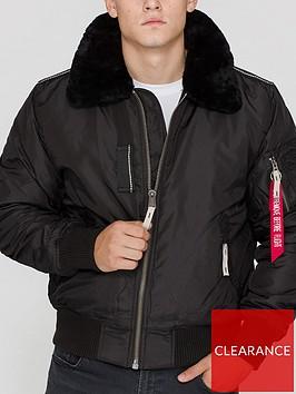 alpha-industries-injector-iii-bomber-jacket-with-tonal-faux-fur-trim-black