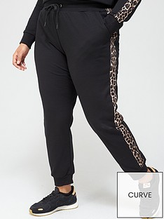 v-by-very-curve-animal-trim-joggers-black