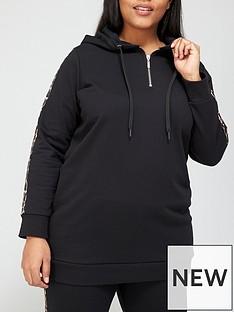 v-by-very-curve-animal-trim-longline-hoodie-black