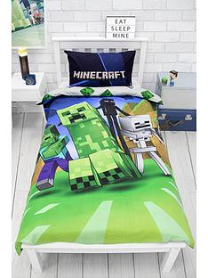 minecraft-creeps-single-duvet-cover-set