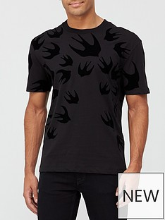 mcq-alexander-mcqueen-swallow-swarm-flock-t-shirt-black