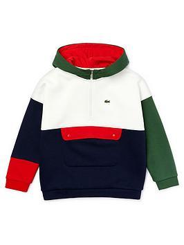 lacoste-boys-colourblock-pocket-hoodie-multi