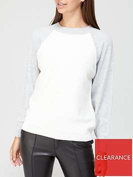 v-by-very-raglan-sleeve-colour-block-crew-neck-jumper-greywhite