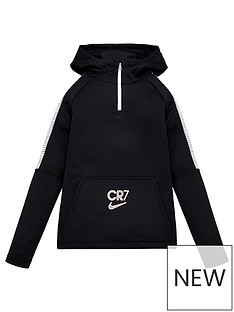 nike-youth-cr7-dri-fitnbspdrill-14-zip-hoodie-black