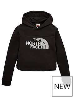 the-north-face-girls-cropped-hoodie-sweatshirt-black