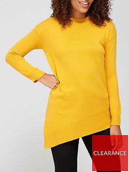 v-by-very-super-softnbspcrew-neck-asymmetric-hem-jumper-mustard