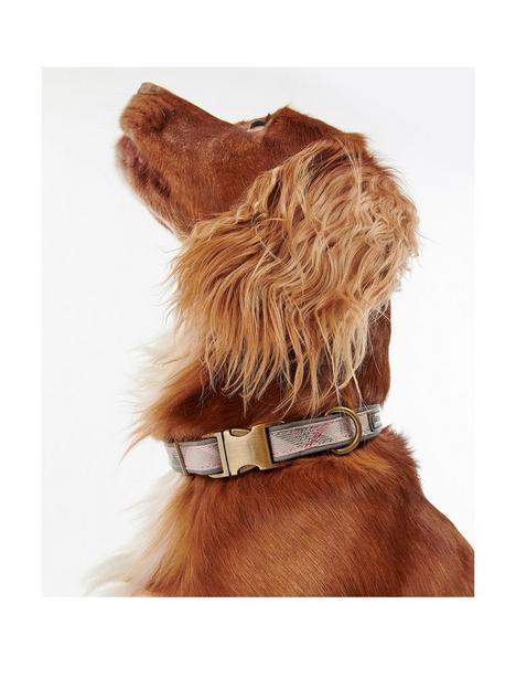 barbour-reflective-pink-tartan-dog-collarnbsp--large