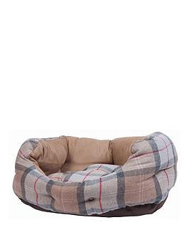 barbour-pink-tartan-luxury-dog-bed