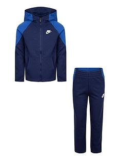 nike-nswnbspyounger-boys-mixed-material-full-zip-set-blue