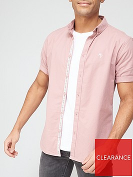 river-island-short-sleeve-oxford-shirt-pink
