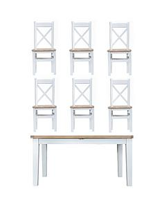 k-interiors-harrownbsp160-210-cm-extending-dining-table-nbsp6-chairs-whiteoak
