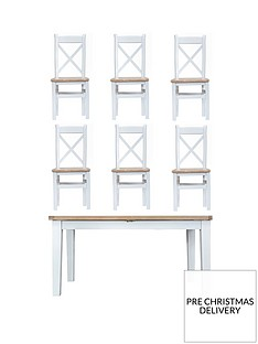 k-interiors-harrownbsp160-210-cm-extending-dining-table-nbsp6-chairs-whiteoak