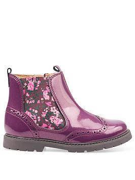 start-rite-patent-glitter-chelsea-boot