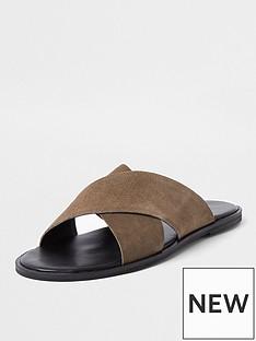 river-island-wilder-cross-strap-leather-sandals-stonenbsp