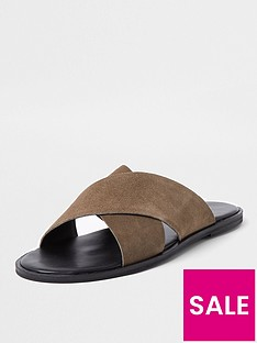 river-island-wilder-cross-strap-leather-sandals-stonenbsp