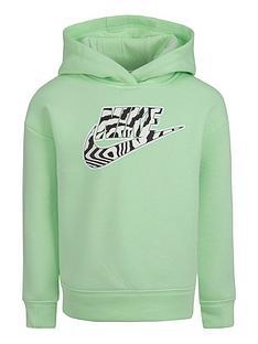 nike-younger-girls-fleece-overhead-hoodie-green