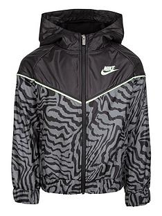 nike-younger-girls-printed-full-zip-windrunner-jacket-black