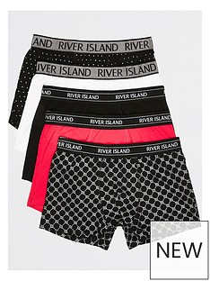 river-island-5-packnbsppink-monogram-foil-trunk-multi
