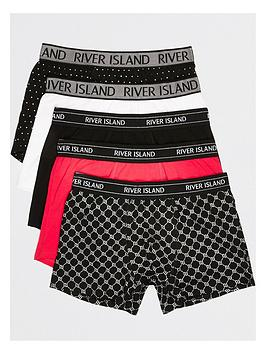 river-island-5-packnbsppink-monogram-foil-trunk-multi