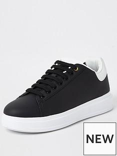 river-island-silk-wedge-sole-heel-clip-trainer-black