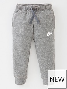 nike-younger-boys-club-fleece-rib-cuff-pant-grey