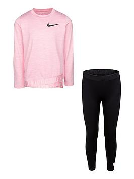 nike-younger-girls-crossover-top-legging-set-black