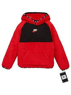 nike-younger-boys-micro-swoosh-sherpa-hoodie-red