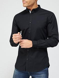 river-island-long-sleevenbspoxford-shirt-blacknbsp