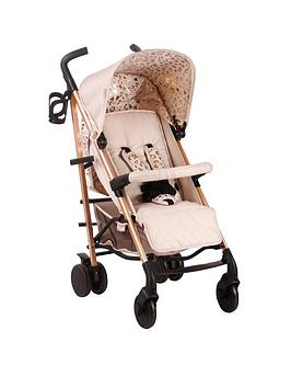 My Babiie Believe Mb51 Rose Gold And Blush Leopard Stroller