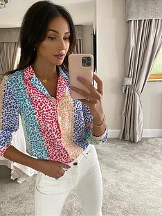 michelle-keegan-printed-open-collar-shirt-multi