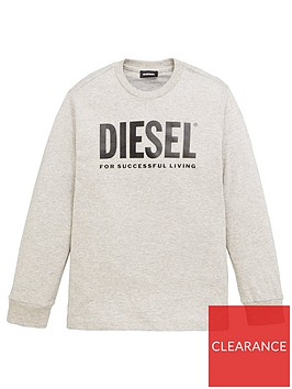 diesel-boys-long-sleeve-logo-t-shirt-grey
