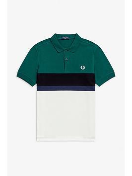 fred-perry-colourblock-polo-shirt