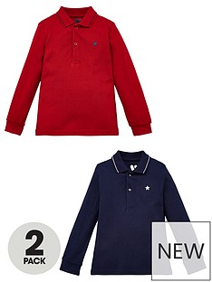 mini-v-by-very-boys-core-2-pack-long-sleeve-polo-multi