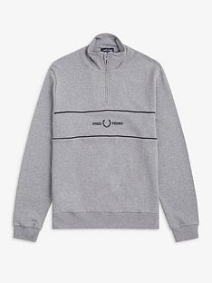 fred-perry-panel-half-zip-sweatshirt