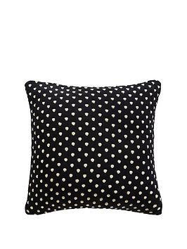 Product photograph showing Tess Daly Polka Knit Cushion