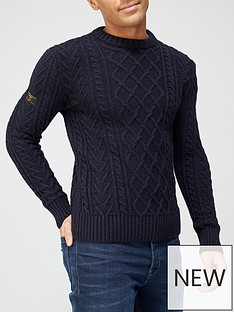superdry-jacob-cable-crew-neck-knit-jumper-navynbsp