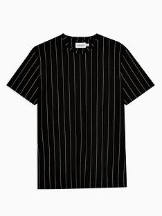 topman-vertical-stripe-t-shirt-black