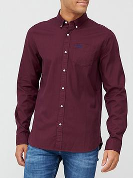 superdry-classic-university-oxford-shirt-burgundy