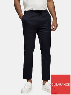 topman-skinny-fit-smart-joggers-navy
