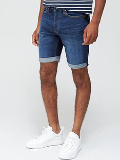 topman-dark-wash-denim-skinny-shorts