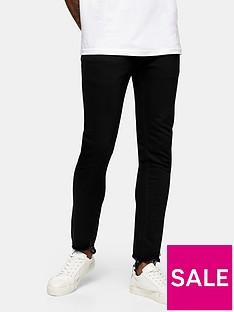 topman-raw-hem-skinny-jeans-black