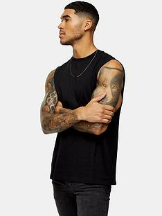 topman-cobra-crew-neck-vest-black